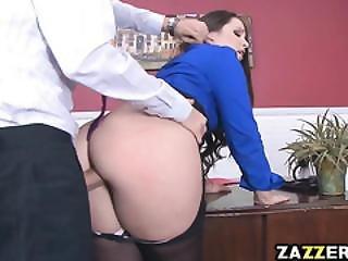 Big Butt Boss Lola  Pretends To Have A Stick Up Her Ass
