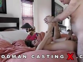 anal, stortuttad, brunett, casting