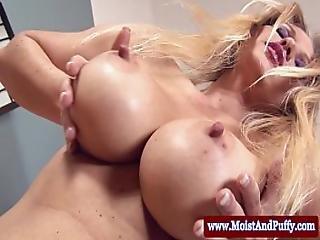 Juicy Cherry Blondes Toy Masturbation