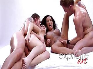Foursome With Angell Summers And Penelope Tiger