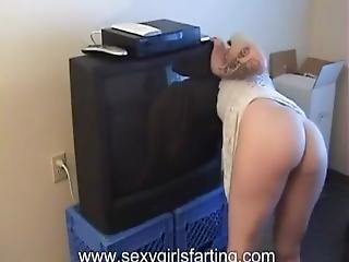 Blonde Girl Flatulence
