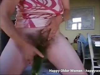 Amateur Hairy Granny Masturbating