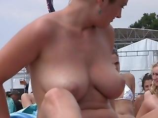 Nice Boobs On Beach