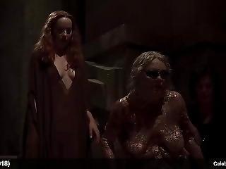 Celebrities Dakota Johnson & Mia Goth Nude And See Through Scenes