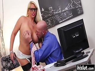 gros téton, bite, hardcore, milf, office, oral, star du porno