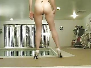 Hot Teen In Pink Bikini Shows Her Huge Perky Tits Near The Swimming Pool