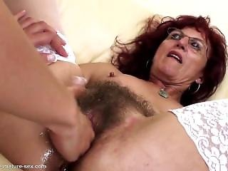 Hairy Mom From Sexdatemilf.com Gets Deep Fisting From Young Girl