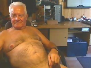 chaude, vieux, homme âgé