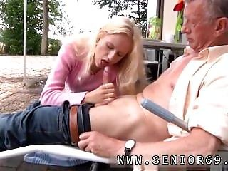 Teen Monique Fucks Old Nick Richard Suggests Helen To Clean Out The