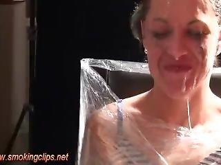Lesbian Spit Torture