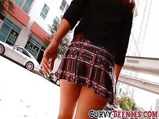 Slutty Teen Choolgirl Bouncing Her Big Ass On Fat Cock