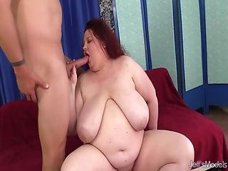 Big Boobed Fatty Stazi Sucks And Fucks