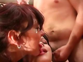 Anal, Grandes Mamas, Loira, Broche, Ejaculação, Caralho, Penetração Dupla, Italiana, Penetração