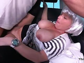 Funny Milf With Big Tits & Fake Hair Love To Get Young Big Cock In Car