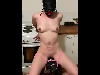 Bound Slave Gagged With Vibrator Torture