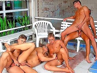 Swim Team Orgy Ends In Marko Getting Gangbanged Bukkaked