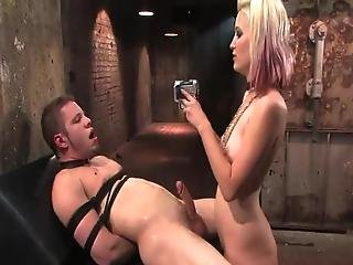 Horny Kimberly Kane Having Twisted Funtime Close To Bound Up Boy Inside Female Domination