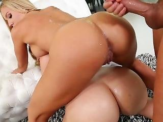 Alexis Texas And Olivia Austin, Big Booty Bombshells Sharing A Cock