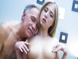 Young Blonde Fucked By Step Dad That Loves His Stepdaughter Pussy