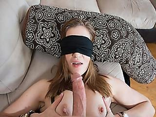 Ikes Cock Massage By Peyton Robbies Tits While Blind Folded
