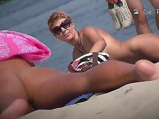 niesamowity, plaża, melony