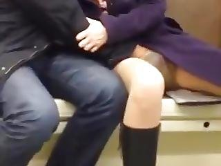 Horny Couple In Subway Can T Hold It Anymore