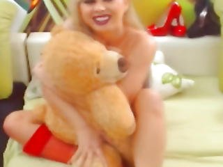 Blond Sheboy Honey Likes To Play Her Penis