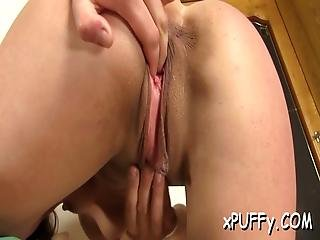 Pumping Babes Tits And Cunt