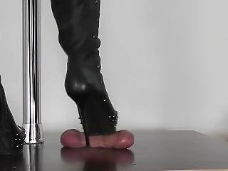 Alina Boots Cock Crush ? Cock Trample ? Bootjob ? Foot Fetish