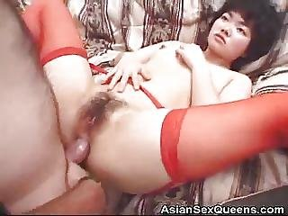 Drilled Hairy Pussy Japanese Jizzed