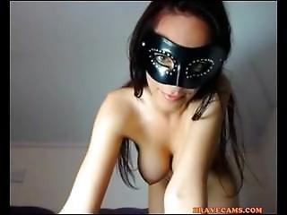 Sexy Masked Brunette Babe On Www.snapchatgirls.net