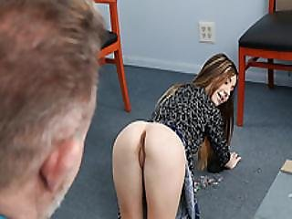 Teen Bambi Brooks Try To Get A Permanent Gig From Stepdad