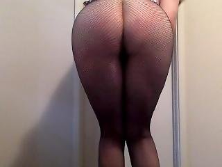Fat Ass In Fishnets With Spitting