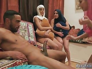 Blindfold Birthday Group Hot Arab Damsels Try Foursome
