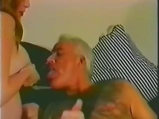 Woman Breastfeeds Old Man