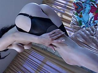 Biddy Teasing With Her Nylons