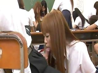 Horny Thai Schoolgirls Cocksuck Power Tools Well Inside A Classroom