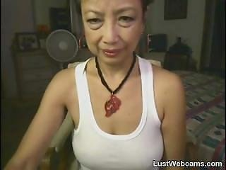 Asian Granny Toying Her Pussy On Webcam