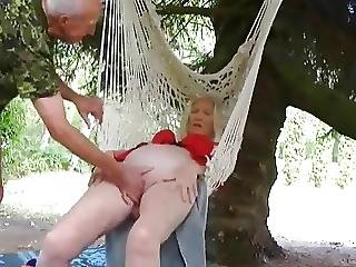 Hairy Mature Gets Fucked On Swing
