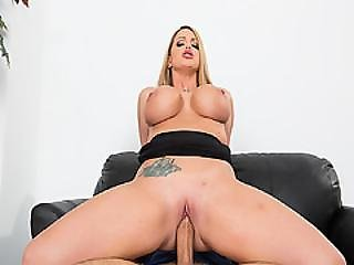 Boss Rides Her Pussy On Top Of Employees Cock