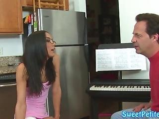 Amazing Petite Teen Fucked With Passion By Her Piano Teacher