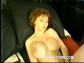 Redhead Hermaphrodite Strokes Her Cock.