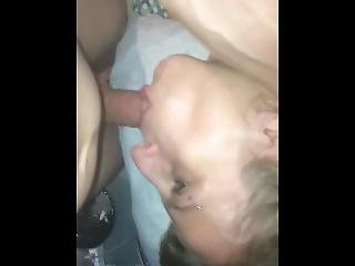 Late Night Blowjob After Daddy Is Home From Bar