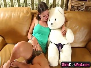 Amateur, Babe, Bear, Cute, Dildo, Fucking, Home, Homemade, Masturbation, Orgasm, Pigtail, Pussy, Solo, Strapon