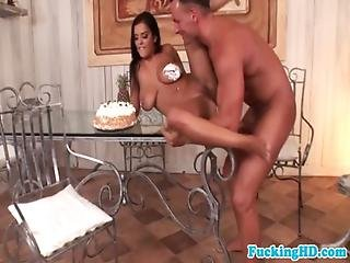 Huge Titted Euro Babe Gives Up Her Ass