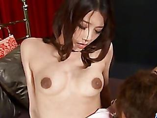 Ibuki Japan Girl Enjoys Cock In Each Of Her Holes