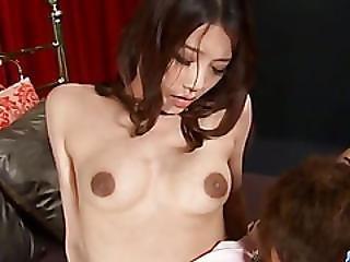 Ibuki Japan Girl Enjoys Cock In Each Of Her Holes