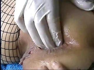 Amateur Milf In Fishnets Anal Fisting. Marine From Dates25.com