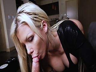 Barbie Sins Wraps Her Fingers Around Her Stepsons Thick Prick And Suck`