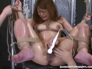 Hairy Japanese Pussy Has Three Vibrating Bullets All Over It